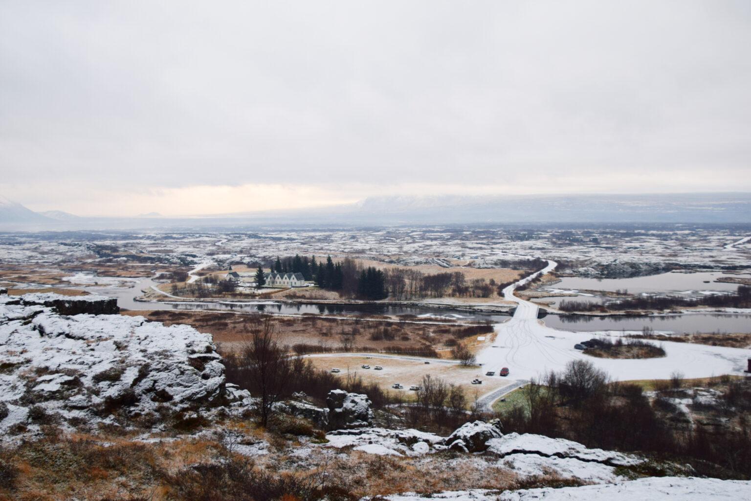 Voor Noorderlicht in IJsland ga je thingvellir