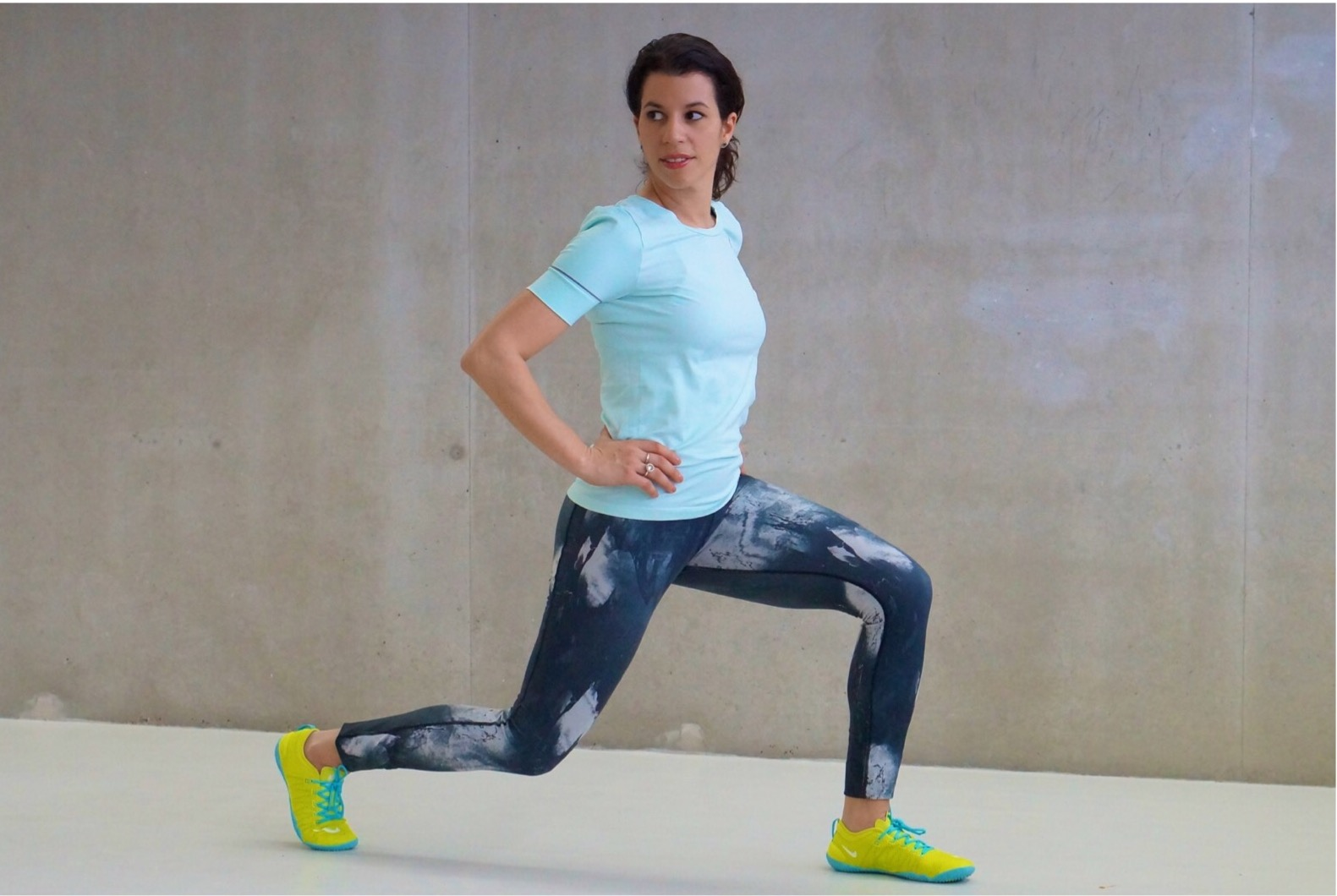 Wintersport workout lunge