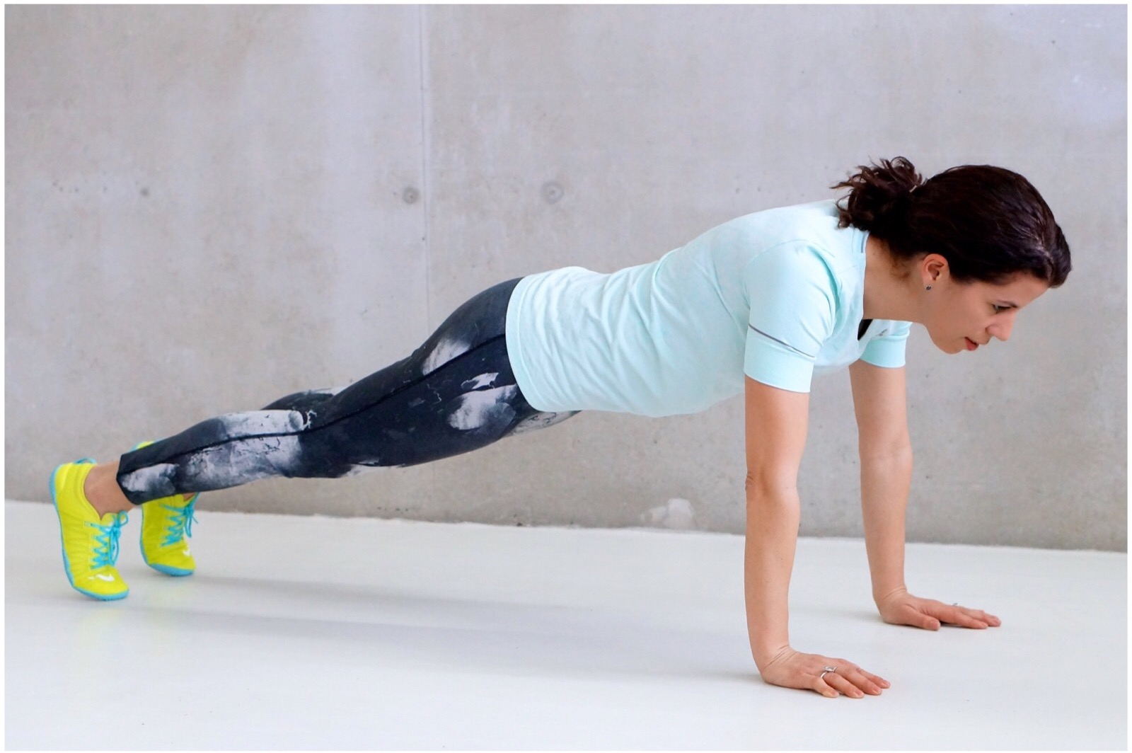 Wintersport workout plank
