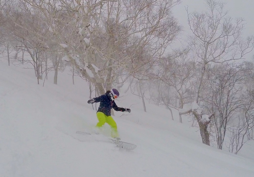 Japan powder riding