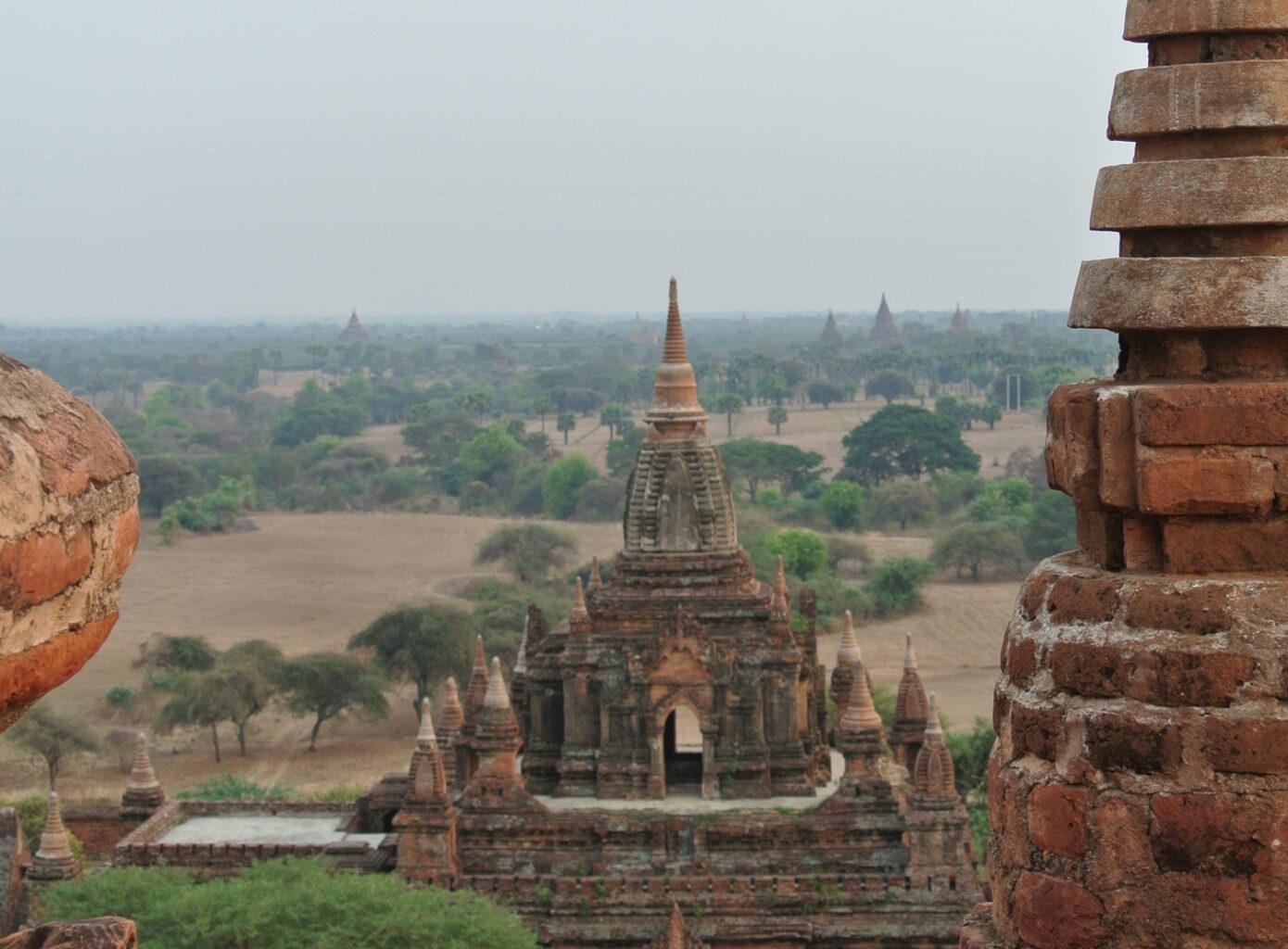 Overal waar je kijkt zijn tempels
