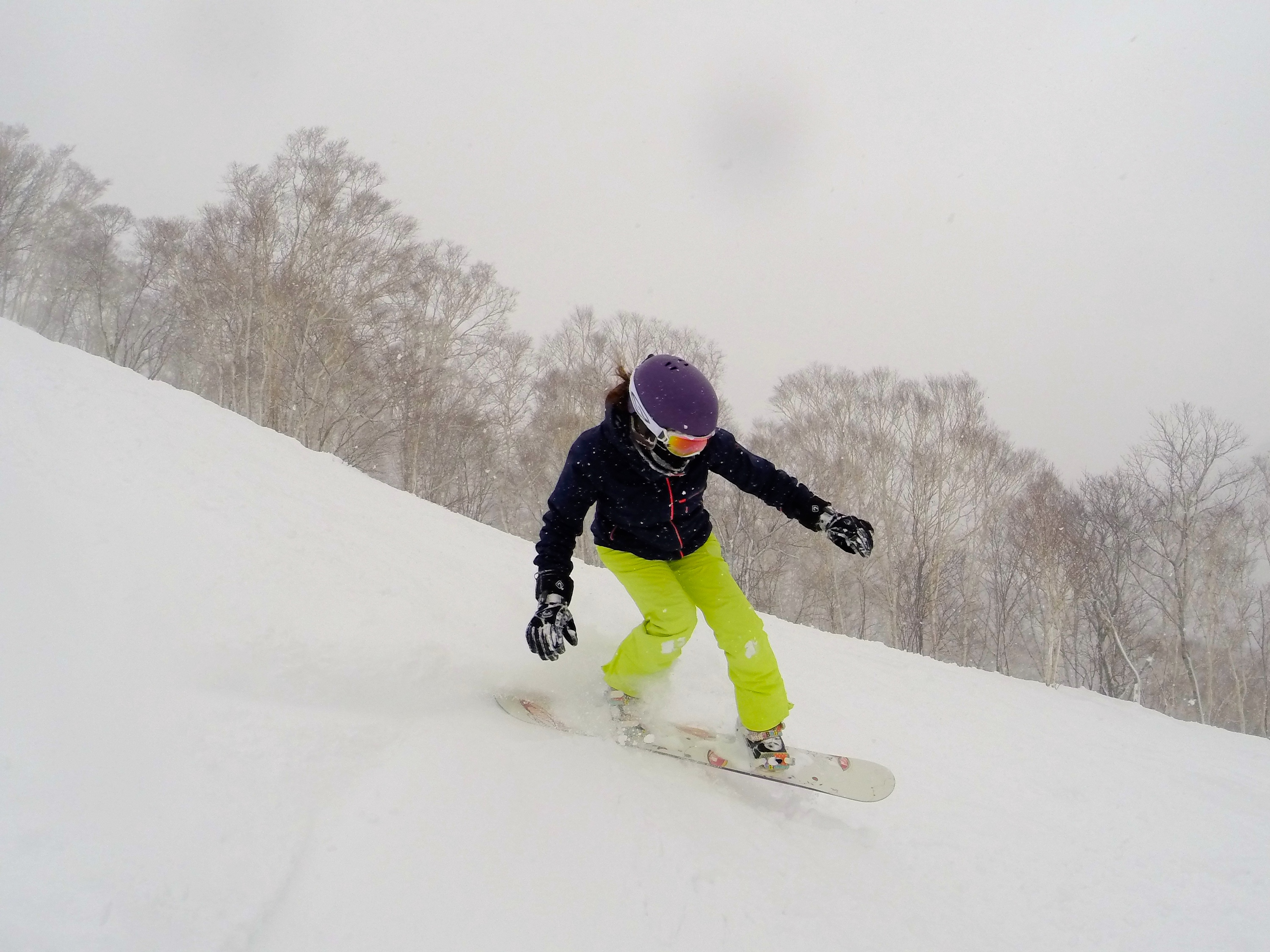 Snowboarden in Japan