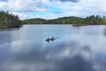 kanoen in Zuid Zweden