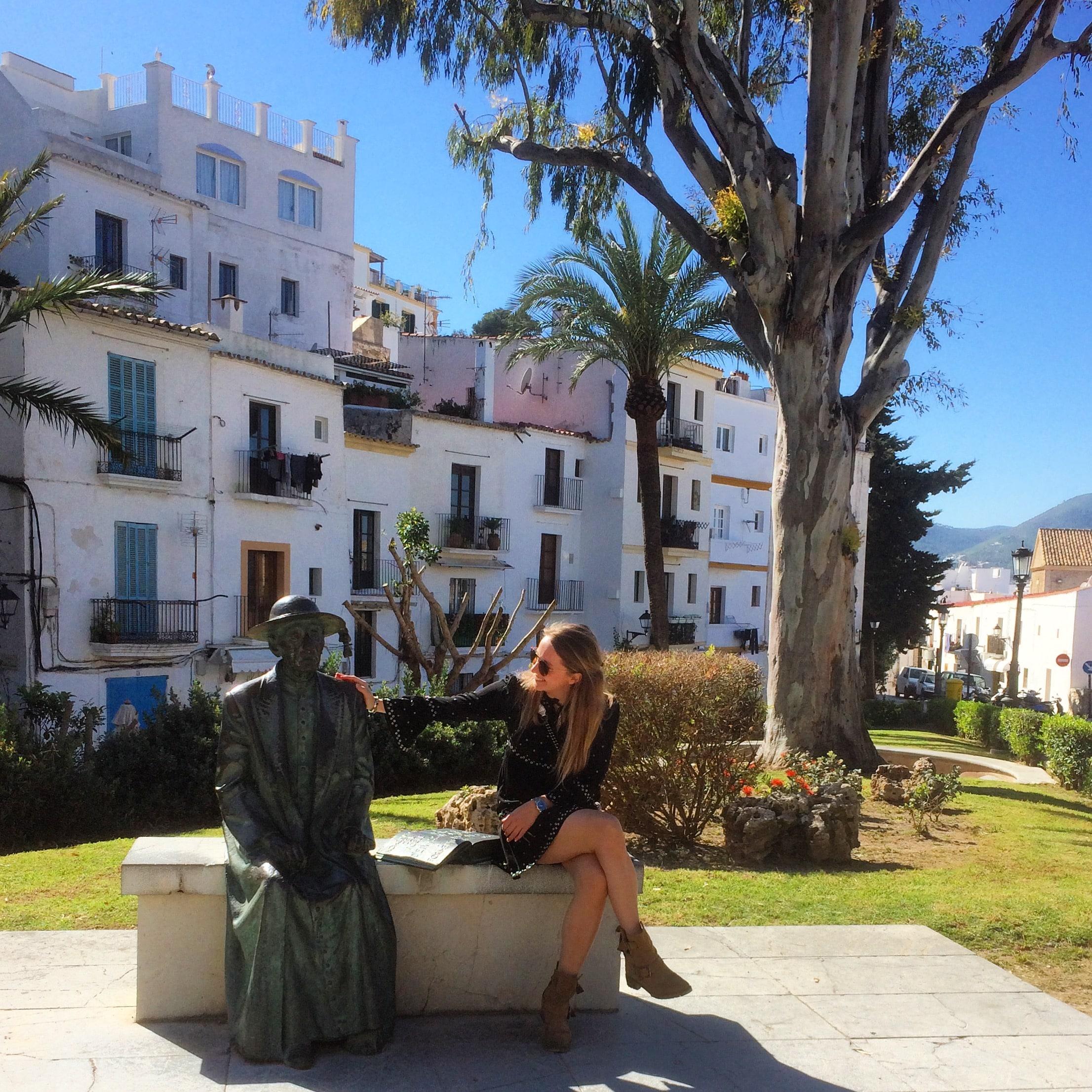 old town Ibiza in maart